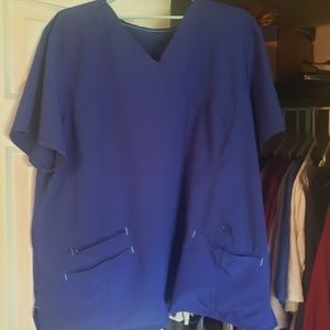 Electric blue scrub top and bottoms